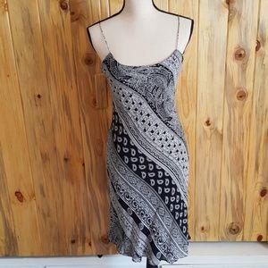 Ralph Lauren black and white slip dress